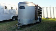 Check out this amazing CM 2 HORSE SLANT BUMPER PULL WITH DRESSING ROOM Horse Trailers for sale in Terrell, Texas USA! $4,000.00