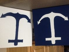 Made these for our guest room nautical decor