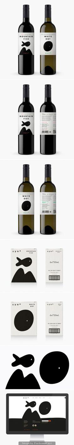 Cute SYN+ #wine #packaging PD - created via http://www.bobstudio.gr/syn-wines/