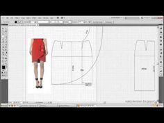 Model uygulamalı etek 33 / The model applied pattern skirt 33