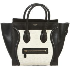 Celine Pre-owned Celine Tote ($16,996) ❤ liked on Polyvore featuring bags, handbags, tote bags, purses, celine, apparel & accessories, tote handbags, wallets & cases, evening handbags and evening bags