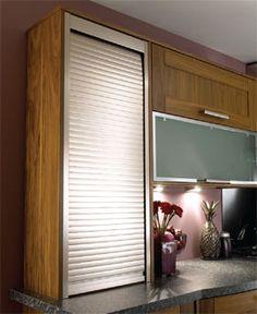 Tambour Door Kit Roller Shutter For Kitchen Unit 500/600mm Steel ...