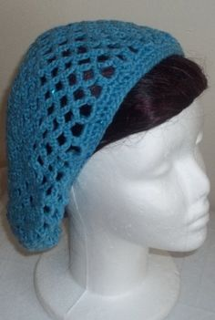 Crocheted hair snood beanie slouchy crochet hair by TheCatmeow2000