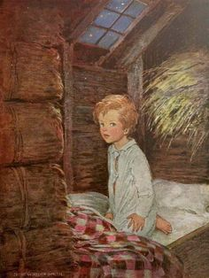 inbed.quenalbertini: Bedtime in the barn by Jessie Wilcox Smith