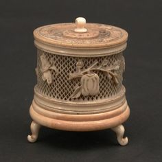Lot: 650: Chinese carved cricket cage., Lot Number: 0650, Starting Bid: $100, Auctioneer: San Rafael Auction Gallery, Auction: Fine Art Furniture & Chinese Antiques Auction, Date: September 29th, 2012 PDT