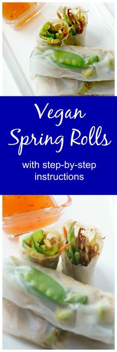 Vegan Spring Rolls: Step-by-step instructions on how to EASILY make your own Spring Rolls at home that are filled with a delicious medley of lightly sauteed veggies and skip the take-out! #EastMadeEasy #IC #ad