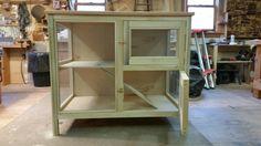 Indoor Rabbit Hutch unfinished.