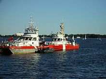 RCMP - CCG (Canada Coast Guard) vessels. The RCMP is responsible for policing in Canadian Internal Waters, including the territorial sea and contiguous zone as well as the Great Lakes and Saint Lawrence Seaway.