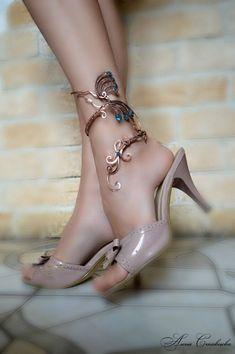 anklet  anklet bangle  body jewelry  foot piece  by AlenaStavtseva