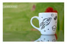 """Tazas personalizadas! Pintadas a mano por """"las tazas de silvia"""" #mug #taza #personalizada #regalo #original"""
