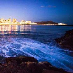 Beautiful night shot of Le'ahi off of Oahu