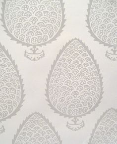 katie ridder leaf wallpaper in gray -- beautiful with a gray/green palette -- book self backing