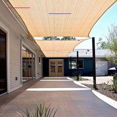 Deck Shade, Sun Sail Shade, Backyard Shade, Backyard Patio Designs, Pergola Designs, Backyard Landscaping, Shade For Patio, Shade Ideas For Backyard, Back Yard Shade Ideas
