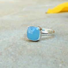 925 Solid Silver Aqua Blue Chalcedony Ring Blue Gemstone Cushion Ring Chalcedony Jewelry Sterling silver Ring Cabochon Blue Ring Sz 5 6 7 8 Ring for women Gift for her Chalcedony Cabochon Rings  Gift Jewelry in lowest price = = = = = = = = = = = = = = = = = Item Code : SR82786 Metal : 925 Solid Silver Gemstone : Navy Blue Chalcedony  US Ring Size : Any sizes  Stone Size (Approx) : 10mm Shape : cushion Color :...