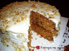 Αμερικάνικο Κέικ Καρότου με Γλάσο Τυριού #sintagespareas