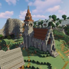 A little church I've been working on the past couple of days : Minecraft Minecraft City, Minecraft Medieval House, Minecraft Kingdom, Minecraft Building Guide, Minecraft Structures, Cute Minecraft Houses, Minecraft House Designs, Minecraft Construction, Amazing Minecraft