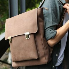 Men's Bags Men Backpack School Bags Teenager For Mens Fashion Brown Leather Business Computer Backbacks High Quality Male Shoulder Bag We Take Customers As Our Gods Backpacks