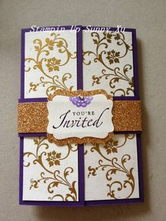 wedding invitation by SunnyXu - Cards and Paper Crafts at Splitcoaststampers Muslim Wedding Invitations, Engagement Invitations, Handmade Wedding Invitations, Wedding Stationary, Birthday Invitations, Seed Paper, Wedding Prep, Stampin Up Cards, Making Ideas