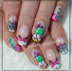 Natural Acrylic Nails, Easter Nails, Cute Nail Art, Hot Nails, Margarita, Pedicure, Nail Designs, Designed Nails, Decorations