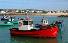 Red Fishing Boat - Struisbaai, Western Cape
