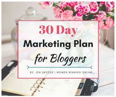 Is marketing your blog a mystery to you? Do you not know what to do every single day to market your blog and get it out there? This is the number one question I get from bloggers and I am here to help you with this 30 day marketing plan...
