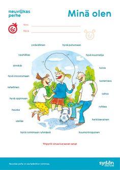 Tehtäviä - Neuvokas perhe Learn Finnish, Finnish Language, Classroom Behavior, Early Childhood Education, 3 In One, Little Ones, Kids, Children, Feelings