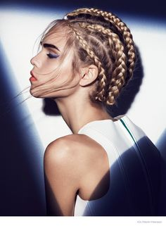 Åsa Elmgren worked on makeup with hair by Joe-Yves Asmar and styling by Gorjan Lauseger.