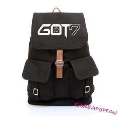 GOT7 Kpop got 7 CANVAS SCHOOLBAG Bag BACKPACK NEW