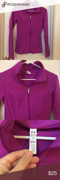 NWOT Under Armour purple zip up jacket Perfect for fall days and working out! Zip up with pockets, beautiful purple color and nice dry fit material. Under Armour Jackets & Coats