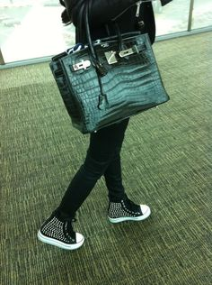 The croc birkin and cool studded sneakers