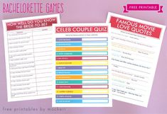 Printable movie quote guessing is a fun bachlorette party games Classy Bachelorette Party, Bachelorette Party Themes, Bachlorette Party, Bachelorette Weekend, Famous Movie Love Quotes, Girls Night Games, Couples Quiz, Hen Party Games, Hen Games