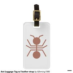 Ant Luggage Tag w/ leather strap