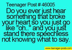 Thats what happened when I heard my friend committed suicide. Then i cried in the shower.