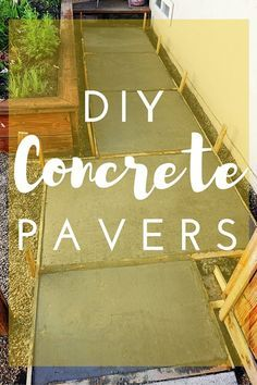 DIY Concrete Pavers DIY Concrete Pavers are budget friendly, can be built to fit your space and look fantastic. Click through for a step-by-step tutorial to build your own bad-ass walkway.