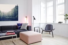 Living room in pastel colors