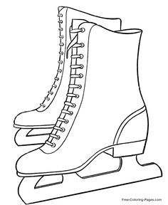 winter coloring pages ice skates 16