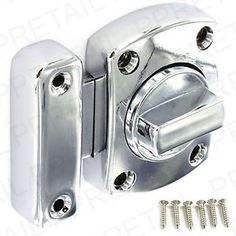 Details About Chrome Bathroom Door Lock Toilet Catch Bolt Inc S