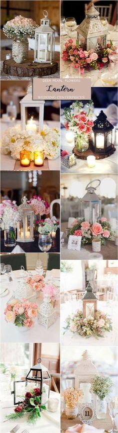 Rustic vintage lantern wedding centerpiece decor ideas / http://www.deerpearlflowers.com/wedding-centerpiece-ideas/2/