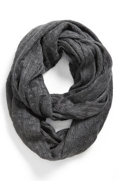 In love with infinity scarves. | Pointelle Knit Infinity Scarf | $32.00