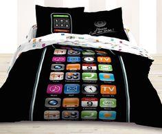 "Be the ""talk"" of the dorm with Le Vele Call Me Duvet Cover Bedding Set.  #duvets #dormbedding #teengirlbedding"