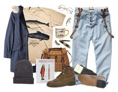 """""""the fisher"""" by paper-freckles ❤ liked on Polyvore featuring Marc by Marc Jacobs, Falke, Patagonia and Wild & Wolf"""