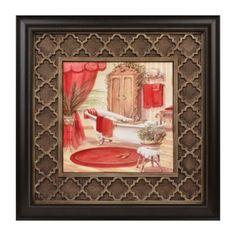 Red Victorian Bath II Framed Art Print | Kirklands