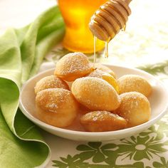 Sopaipillas Recipe -Light, crispy pastry puffs, sopaipillas are a sweet way to round out a spicy meal. They make a nice winter dessert served warm and topped with honey or sugar. —Mary Anne McWhirter, Pearland, Texas