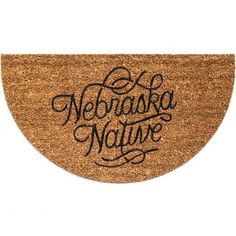 Holiday Gift Ideas - Nebraska Native Doormat from Hutch Holiday Gifts, Christmas Gifts, Doormat, Nebraska, Amazing Art, Gift Ideas, Xmas Gifts, Xmas Gifts, Christmas Presents