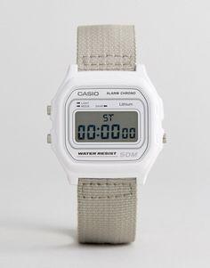 Casio W-59B-7AVEF Digital Canvas Watch In Beige - Beige