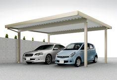 LIXIL リクシル(トステム)のカーポート テリオスポートIII 積雪50cm対応 2台用 4本柱 掲載車種:レガシー[スバル]、R2[スバル]