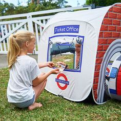 Mind the gap and stand clear of the doors, the London Underground Tent has arrived. Let the little ones take control of their very own underground station with this creative ticket office and tube train.  #London#londonlife#londoner#play#game#toy#gift#happy#summer#sun#sunny#australia#kids#children#playing#train#travel#adventure#wanderlust#wonder#adventureisoutthere#wondering#summervibes#themonsterfactory