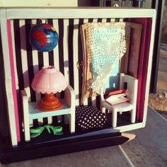 Miniroom handmade. #handmade #miniature #diy #dollshouse