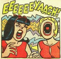 Betty and Veronica get ticked off. Vintage Comic Books, Vintage Comics, Comic Books Art, Comic Art, Vintage Ads, Cartoon Kunst, Comic Kunst, Cartoon Art, Archie Comics Characters