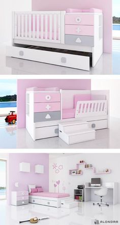 Super Baby Cribs For Girls Kid Beds Ideas - Modern Baby Bedroom, Baby Boy Rooms, Baby Room Decor, Baby Cribs, Girls Bedroom, Nursery Furniture, Kids Furniture, Baby Room Design, Kid Beds